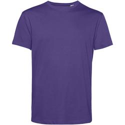 textil Herr T-shirts B&c TU01B Strålande lila