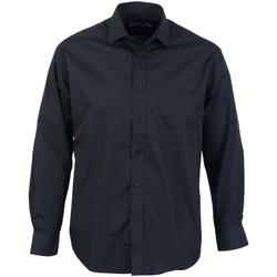 textil Herr Långärmade skjortor Absolute Apparel  Svart