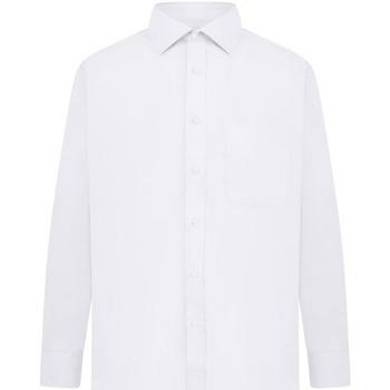 textil Herr Långärmade skjortor Absolute Apparel  Vit