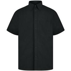 textil Herr Kortärmade skjortor Absolute Apparel  Svart