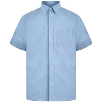 textil Herr Kortärmade skjortor Absolute Apparel  Ljusblå