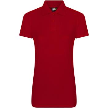 textil Dam Kortärmade pikétröjor Prortx RX01F Röd