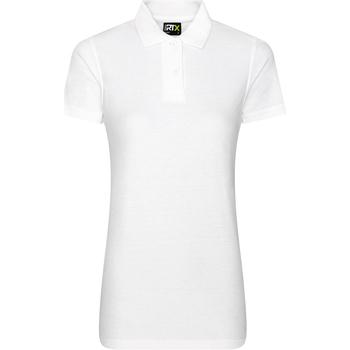 textil Dam Kortärmade pikétröjor Prortx RX01F Vit