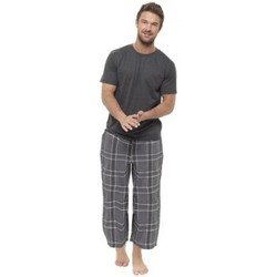 textil Herr Pyjamas/nattlinne Foxbury  Grå ruta