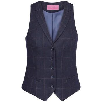 textil Dam Kostymvästar Brook Taverner BK521 Marinblå ruta