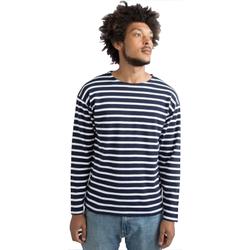 textil Långärmade T-shirts One By Mantis M136 Marinblått/vit