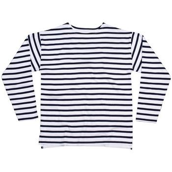 textil Långärmade T-shirts One By Mantis M136 Vit/marinefärgad