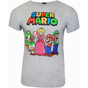 textil T-shirts Super Mario  Grått ljung