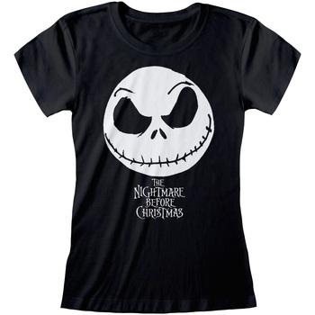 textil Dam T-shirts Nightmare Before Christmas  Svart
