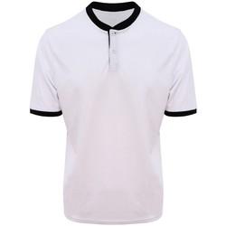 textil Herr Kortärmade pikétröjor Awdis JC044 Arctic White/Jet Black