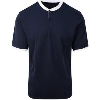 textil Herr Kortärmade pikétröjor Awdis JC044 Marinblått/Arktic White