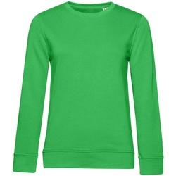 textil Dam Sweatshirts B&c WW32B Äppelgrönt