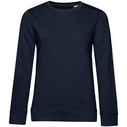 textil Dam Sweatshirts B&c WW32B Marinblått