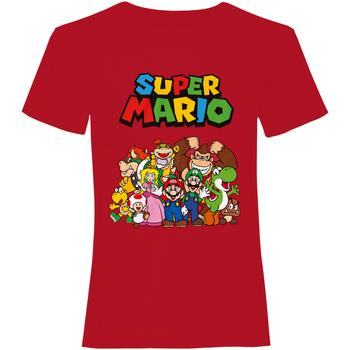 textil T-shirts Super Mario  Röd