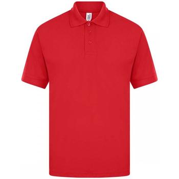 textil Herr Kortärmade pikétröjor Casual Classics  Röd