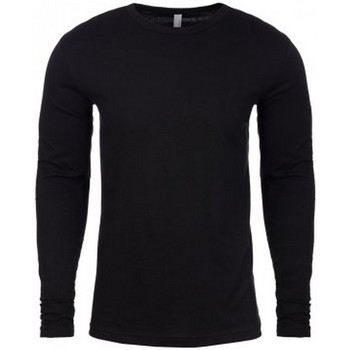 textil Herr Långärmade T-shirts Next Level NX3601 Svart