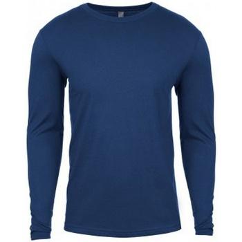 textil Herr Långärmade T-shirts Next Level NX3601 Cool Blue