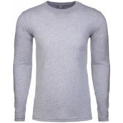 textil Herr Långärmade T-shirts Next Level NX3601 Grått ljung
