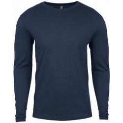 textil Herr Långärmade T-shirts Next Level NX3601 Indigoblå