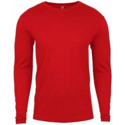 textil Herr Långärmade T-shirts Next Level NX3601 Röd