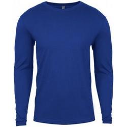 textil Herr Långärmade T-shirts Next Level NX3601 Kunglig blå