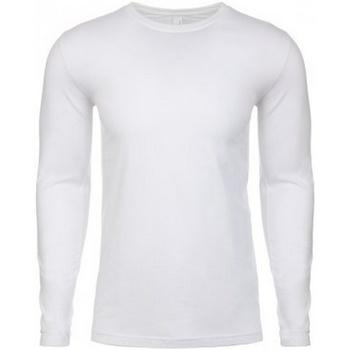 textil Herr Långärmade T-shirts Next Level NX3601 Vit