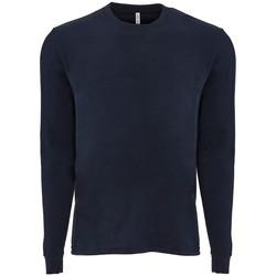 textil Långärmade T-shirts Next Level NX6411 Marinblått