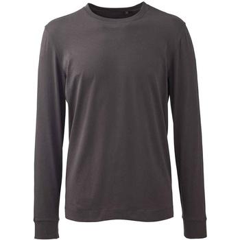 textil Herr Långärmade T-shirts Anthem AM11 Grått kolgrått