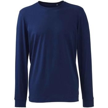 textil Herr Långärmade T-shirts Anthem AM11 Marinblått