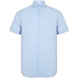 textil Herr Kortärmade skjortor Henbury HB537 Ljusblå