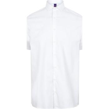 textil Herr Kortärmade skjortor Henbury HB537 Vit