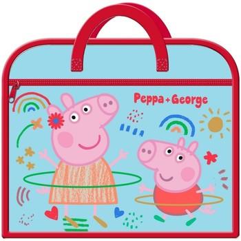 Väskor Barn Skolväskor Peppa Pig  Blå/Röd