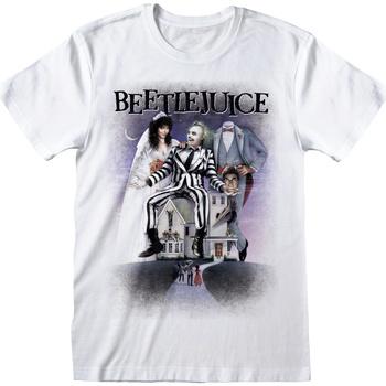 textil T-shirts Beetlejuice  Vit