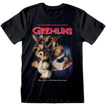 textil T-shirts Gremlins  Svart