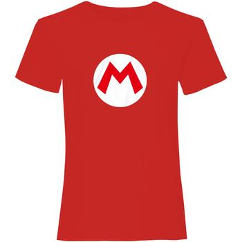 textil T-shirts Super Mario  Röd/vit