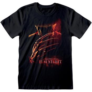 textil T-shirts Nightmare On Elm Street  Svart