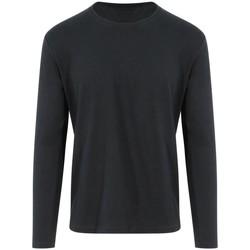 textil Långärmade T-shirts Awdis EA021 Jet Black