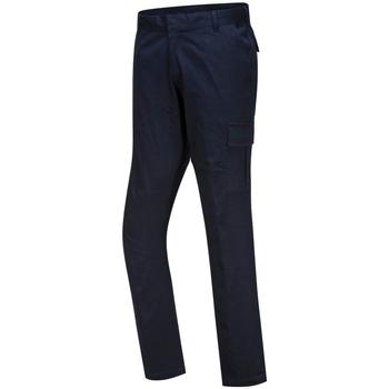textil Herr Chinos / Carrot jeans Portwest PW363 Mörkblått