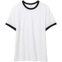 textil Herr T-shirts Alternative Apparel AT013 Vit/Svart