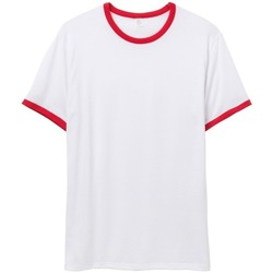 textil Herr T-shirts Alternative Apparel AT013 Vit/Röd