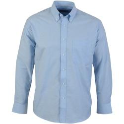 textil Herr Långärmade skjortor Absolute Apparel  Ljusblå