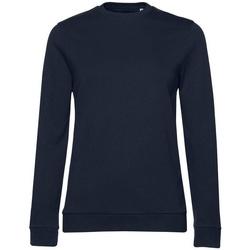 textil Dam Sweatshirts B&c WW02W Marinblått