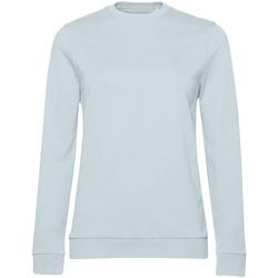 textil Dam Sweatshirts B&c WW02W Himmelblått
