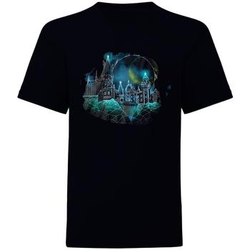 textil T-shirts Harry Potter  Svart