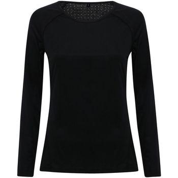 textil Dam Långärmade T-shirts Tridri TR040 Svart