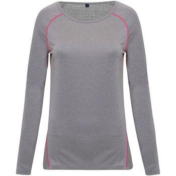 textil Dam Långärmade T-shirts Tridri TR040 Silver Melange