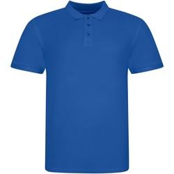 textil Kortärmade pikétröjor Awdis JP100 Kunglig blå