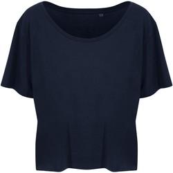 textil Dam T-shirts Ecologie EA02F Marinblått