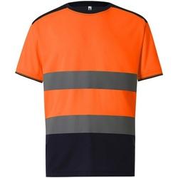textil Herr T-shirts Yoko  Orange/Navy