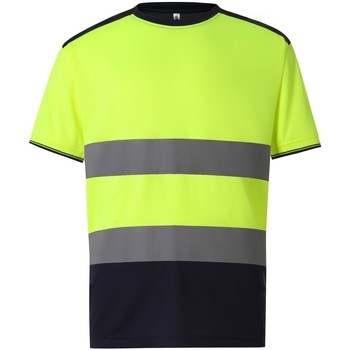 textil Herr T-shirts Yoko  Gul/Navy